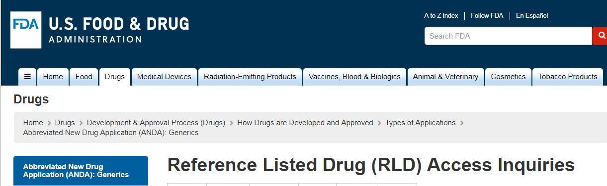 Reference Listed Drugs (RLD) – Drug and Device Digest